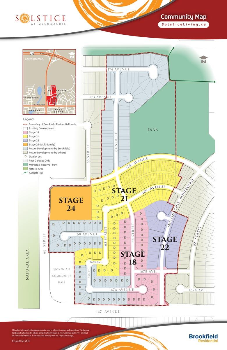Community Map - Solstice at McConachie