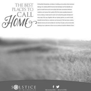 Solstice community brochure, Edmonton