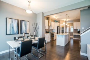 kitchen and dining room by by Edmonton home builder City Homes