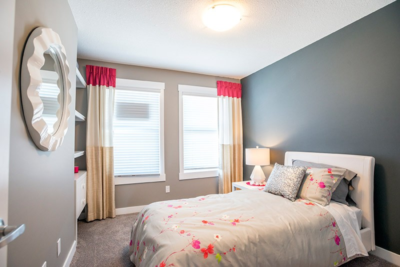 Bedroom by Edmonton home builder City Homes