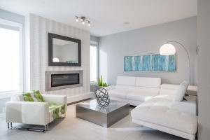 Living room by Edmonton home builder City Homes