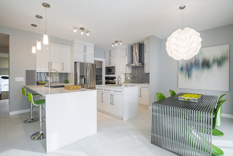 Kitchen area by Edmonton new home builder City Homes