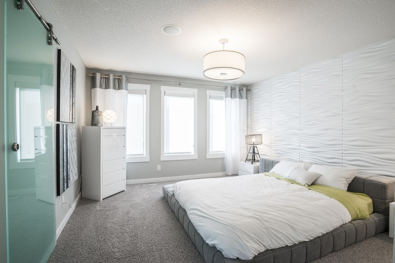 Bedroom by Edmonton home builder City Homes