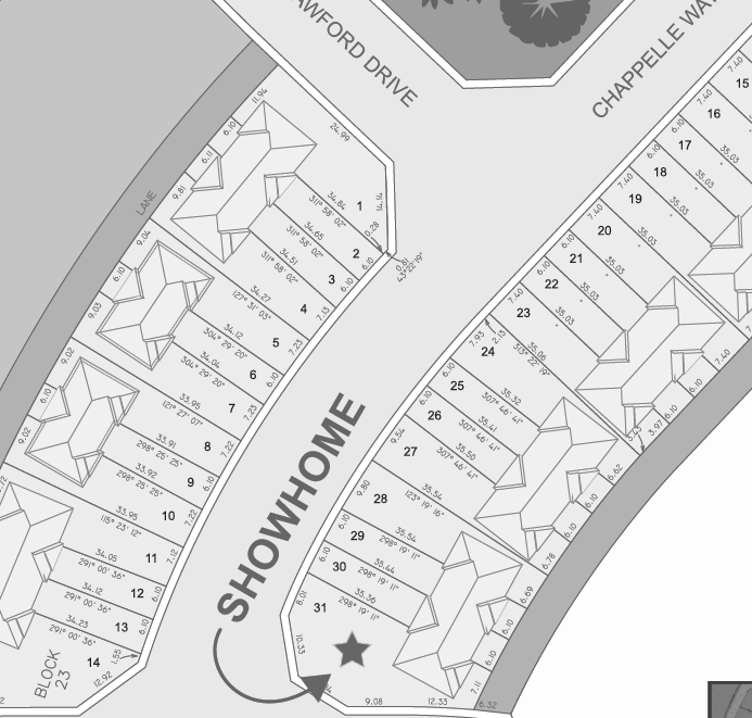 South Edmonton Caspia Townhomes Showhome Map