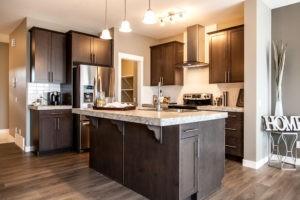 Hardwood floor kitchen by City Homes, Edmonton new home builder