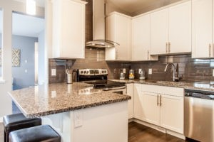 Duplex kitchen by City Homes, Edmonton new home builder