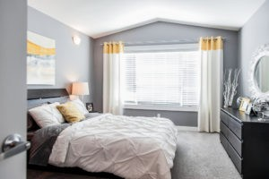 Duplex master bedroom by City Homes, Edmonton new home builder