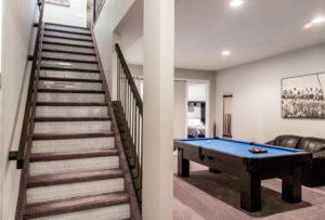Developed basement of single family home in Edmonton
