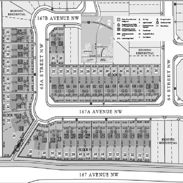 North Edmonton Home Builder Community Map