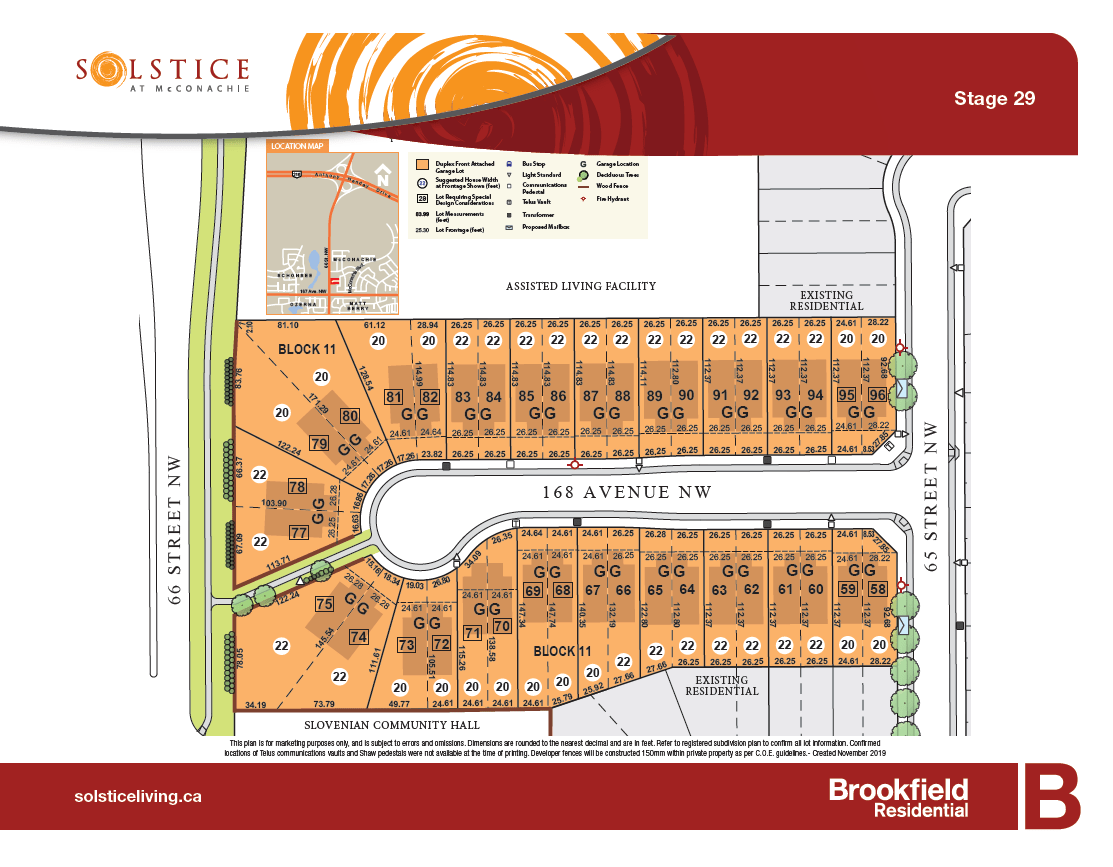 Community map of north edmonton community McConachie Solstice