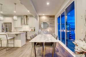 Dining room in Caspia townhomes