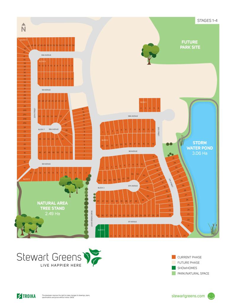 Site Plan - Stewart Greens