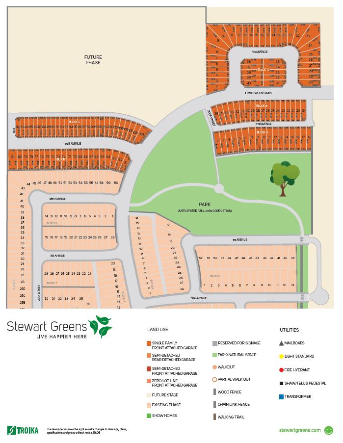 West Edmonton Home Builder Community Lots in STE