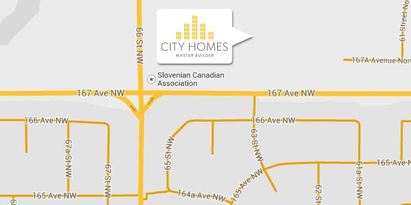 Solstice map from Edmonton home builder City Homes