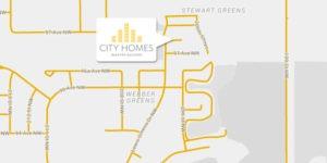 Stewart Greens map from Edmonton home builder City Homes