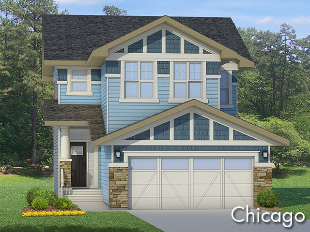 Chicago 1 new home model by Edmonton home builder City Homes