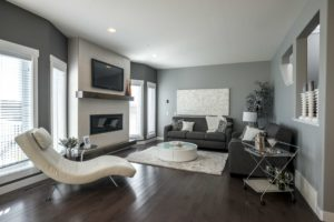 Great room by new home builder City Homes, Edmonton
