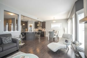 Living area of single family home in Edmonton, by new home builder City Homes Master Builder