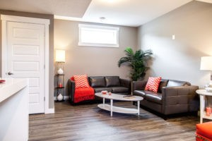 Basement suite by new home builder City Homes Master Builder