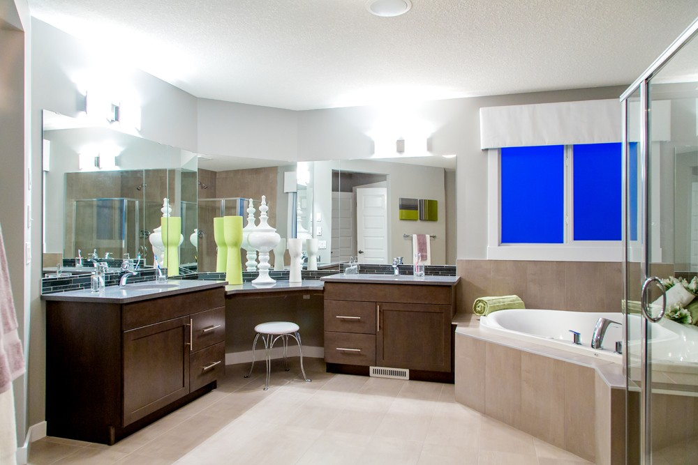 Master Bedroom Ensuite by new home builder City Homes Master Builder in Edmonton