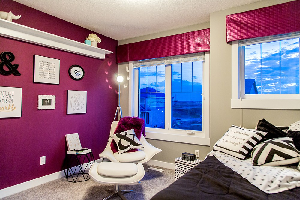 Designer kid's room in Edmonton by new home builder City Homes Master Builder