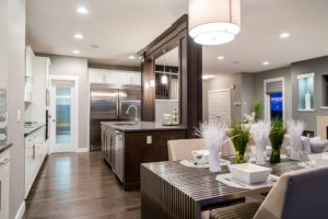 Main living area of single family home in Edmonton by City Homes Master Builder