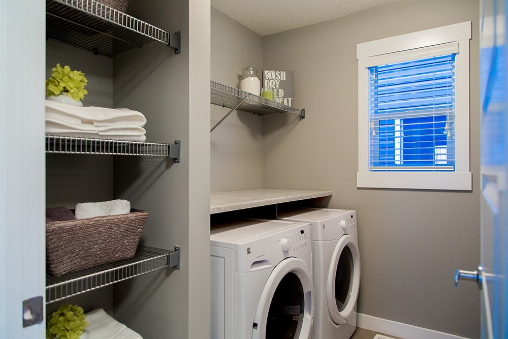 Laundry Room by City Homes Master Builder in Edmonton