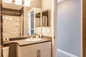 New home main bathroom by City Homes Master Builder