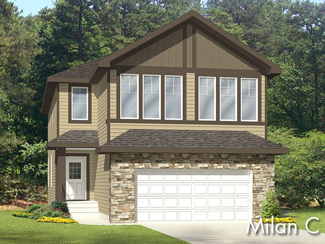 Milan C new home model by Edmonton home builder City Homes