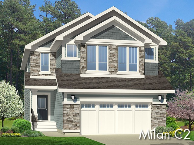 Milan C2 new home model by Edmonton home builder City Homes
