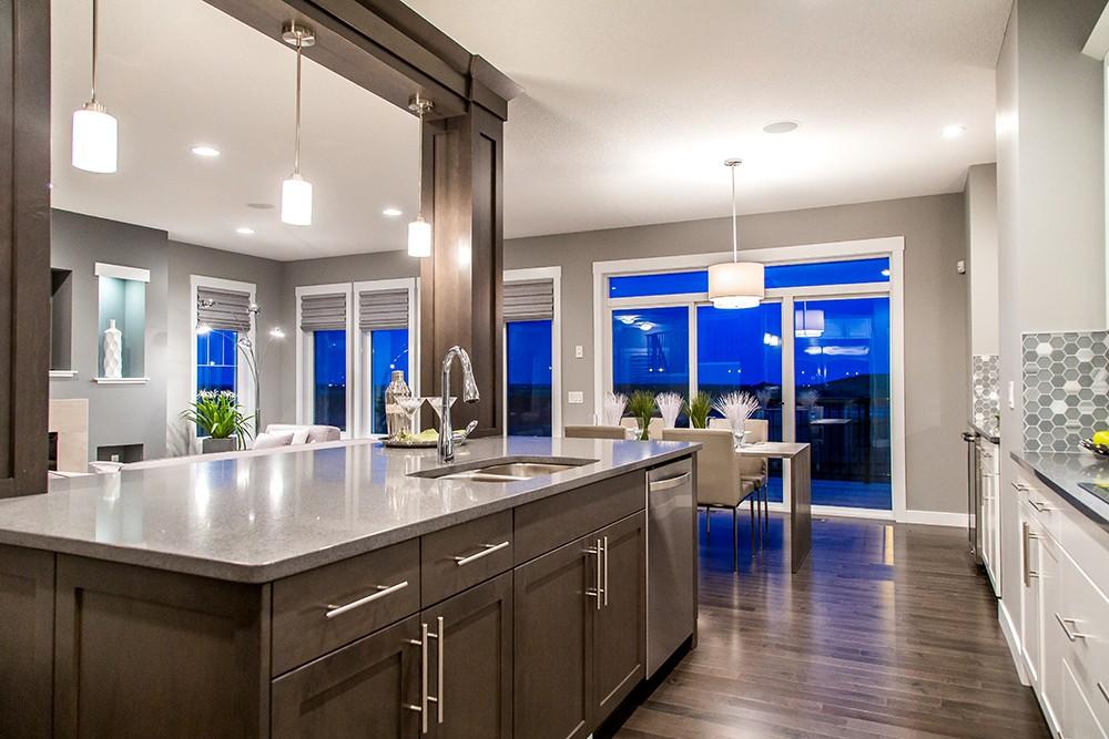 Kitchen island by City Homes Master Builder in Edmonton, AB