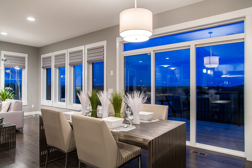 Dining room in new home built by City Homes Master Builder, Edmonton