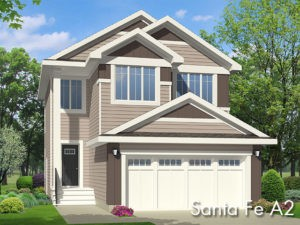 Sante Fe A2 new home model by Edmonton home builder City Homes