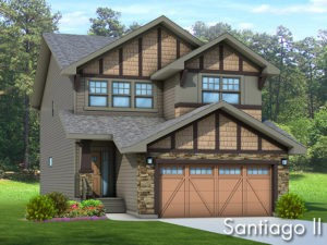 Santiago II new home model by Edmonton home builder City Homes
