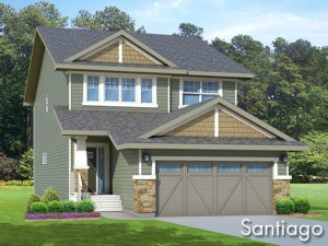 Santiago new home model by Edmonton home builder City Homes