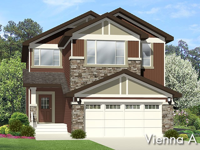 Vienna A new home model by Edmonton home builder City Homes
