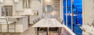 Townhome dining and kitchen area by new home builder City Homes Master Builder