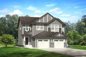 Attached garage duplex from City Homes Master Builder, new home builder edmonton
