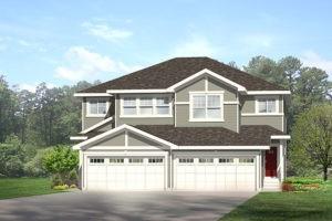 Double garage duplex model by City Homes Master Builder in Edmonton