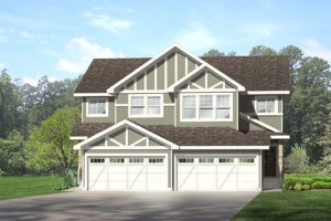 Attached garage duplex in Edmonton, City Homes Master Builder new home builder