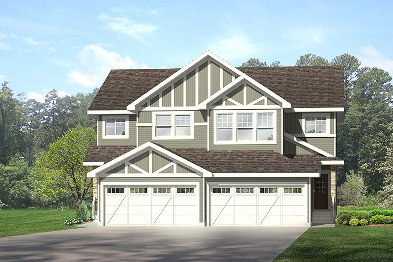 Attached garage duplex in Edmonton, City Homes Master Builder new home builder
