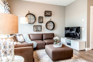 Duplex living room space, Edmonton Alberta, built by City Homes Master Builder