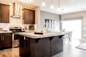 Duplex kitchen area from Edmonton new home builder City Homes