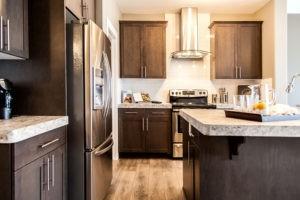 Duplex kitchen area from new home builder City Homes Master Builder, Edmonton