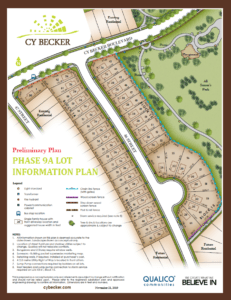 SIngle Family Homes in Phase 9 Cy Becker