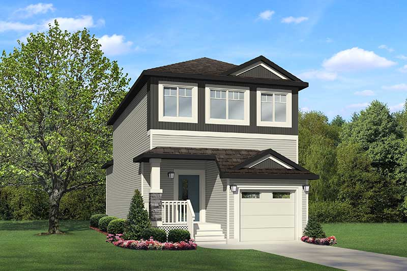 Home model built by new home builder City Homes in Edmonton