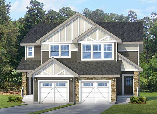 Duplex home model by new home builder City Homes Master Builder