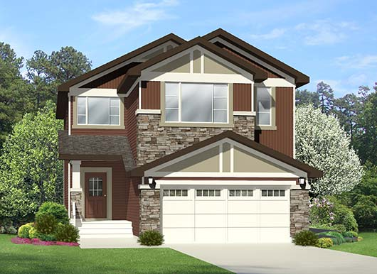 Torino home model by new home builder City Homes in Edmonton