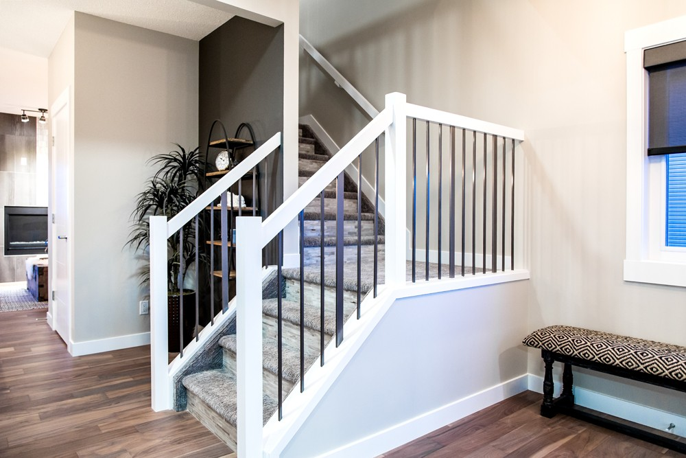 Foyer of new home in north Edmonton from new home builder City Homes Master Builder