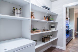 Pantry in Edmonton new home by City Homes Master Builder